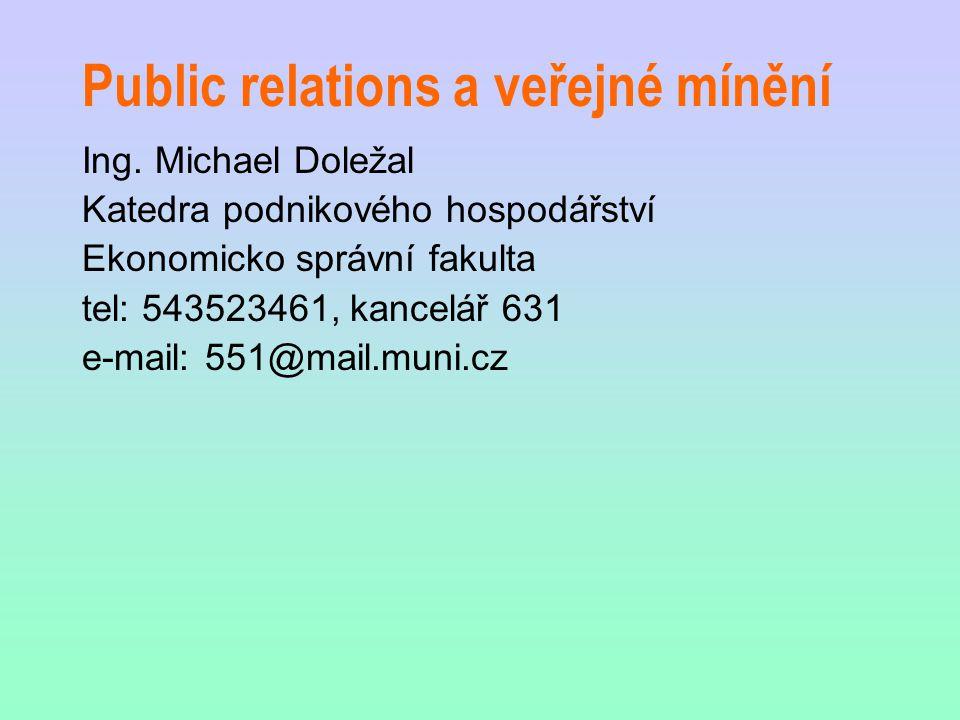 Public relations a veřejné mínění