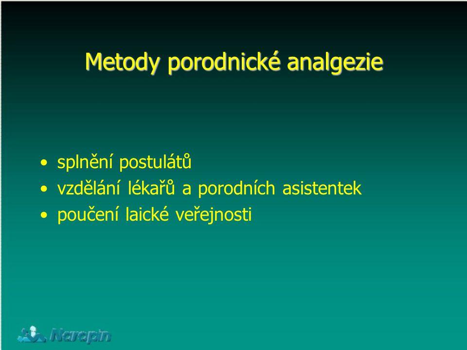 Metody porodnické analgezie