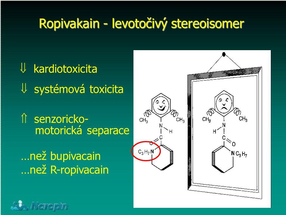 Ropivakain - levotočivý stereoisomer
