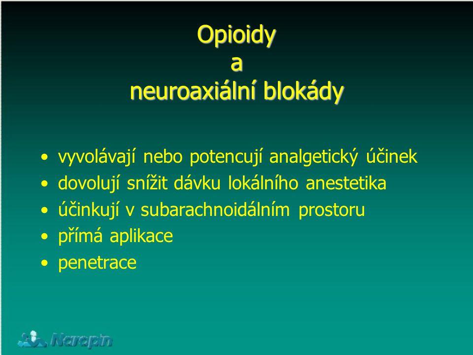 Opioidy a neuroaxiální blokády
