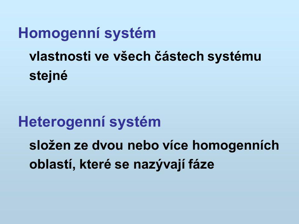 Homogenní systém Heterogenní systém