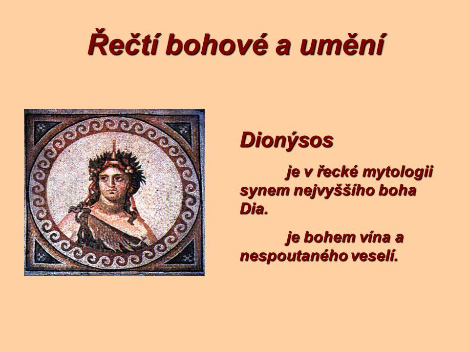 Řečtí bohové a umění Dionýsos