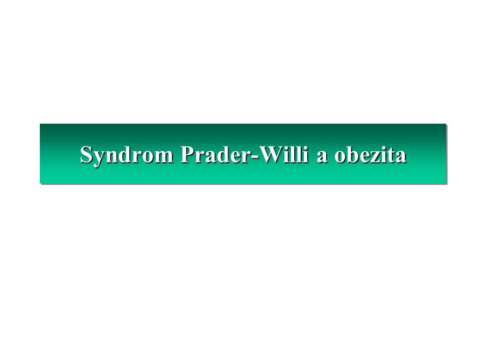 Syndrom Prader-Willi a obezita