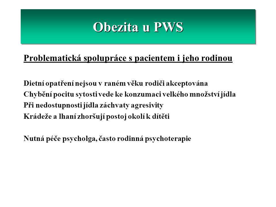 Obezita u PWS Problematická spolupráce s pacientem i jeho rodinou