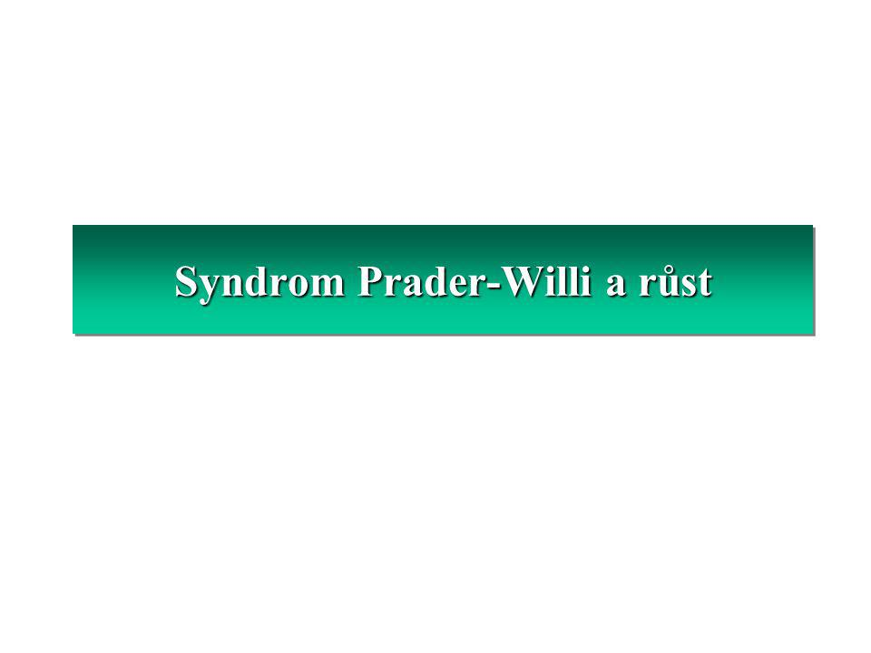 Syndrom Prader-Willi a růst
