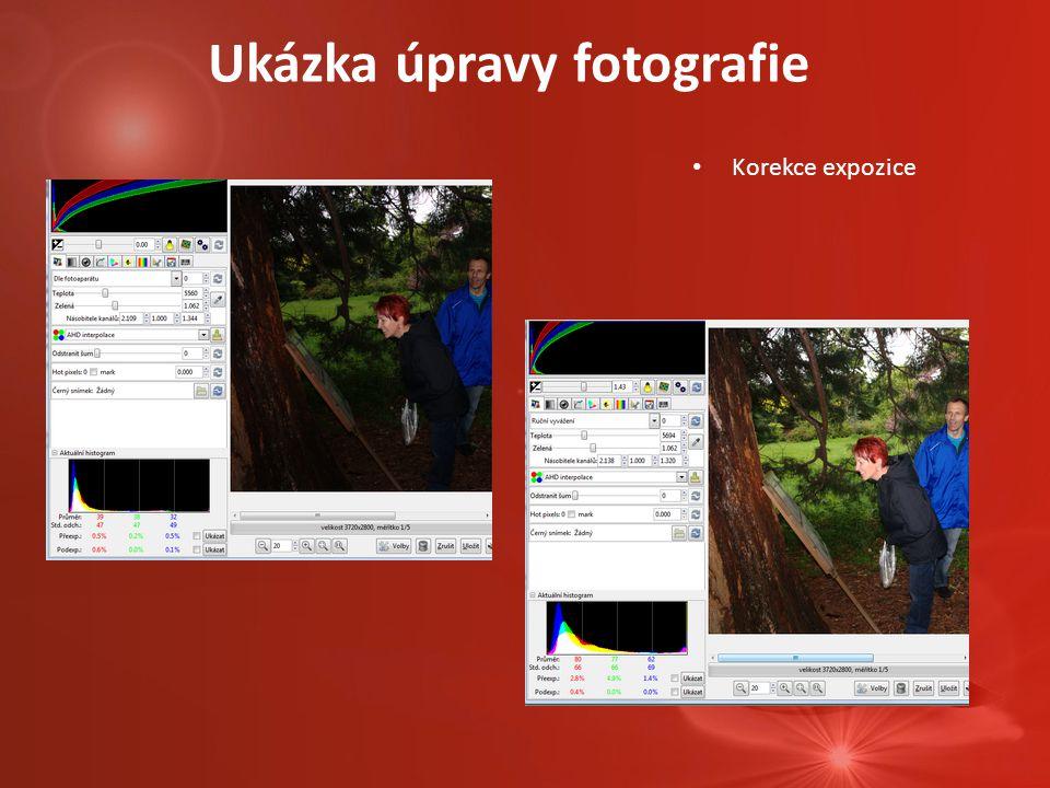 Ukázka úpravy fotografie