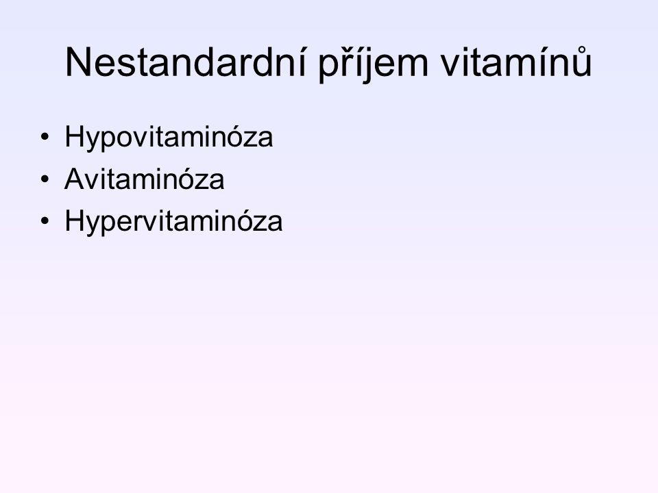 Nestandardní příjem vitamínů
