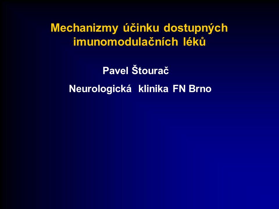 Mechanizmy účinku dostupných imunomodulačních léků