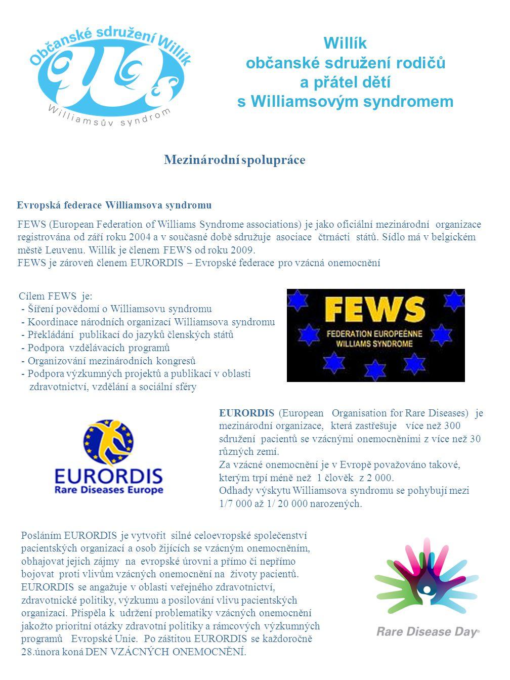 občanské sdružení rodičů s Williamsovým syndromem