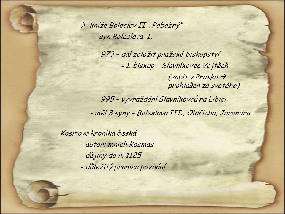 """ kníže Boleslav II. """"Pobožný"""