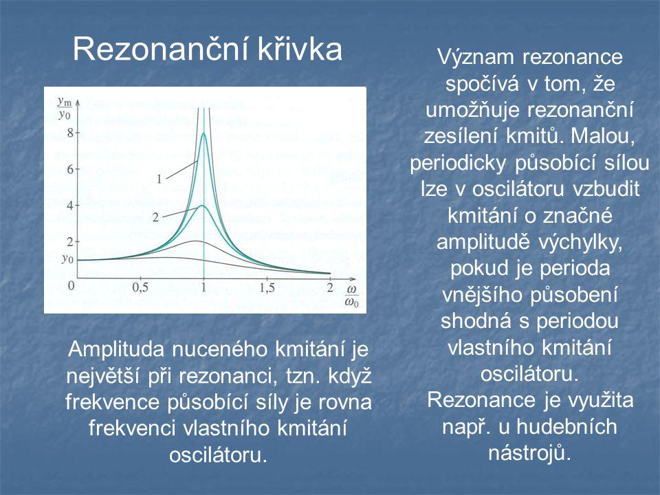 Rezonance je využita např. u hudebních nástrojů.