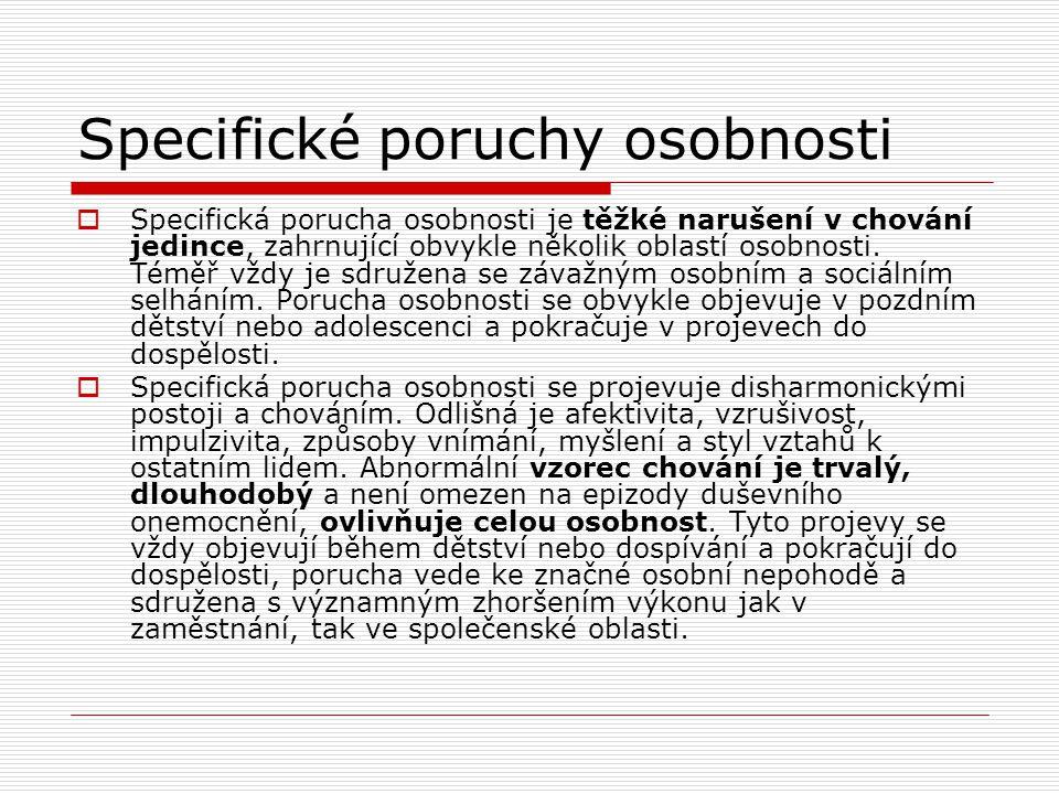 Specifické poruchy osobnosti