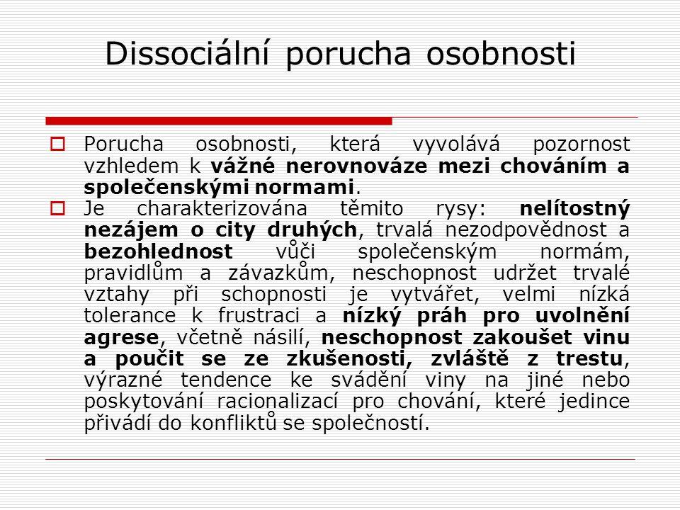 Dissociální porucha osobnosti