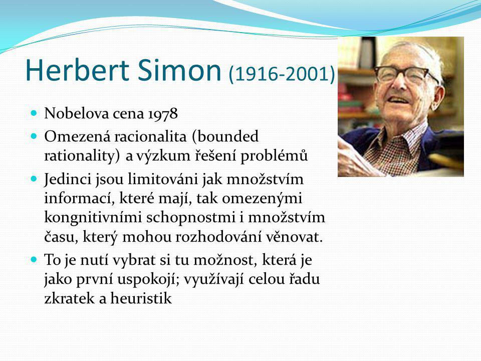 Herbert Simon (1916-2001) Nobelova cena 1978