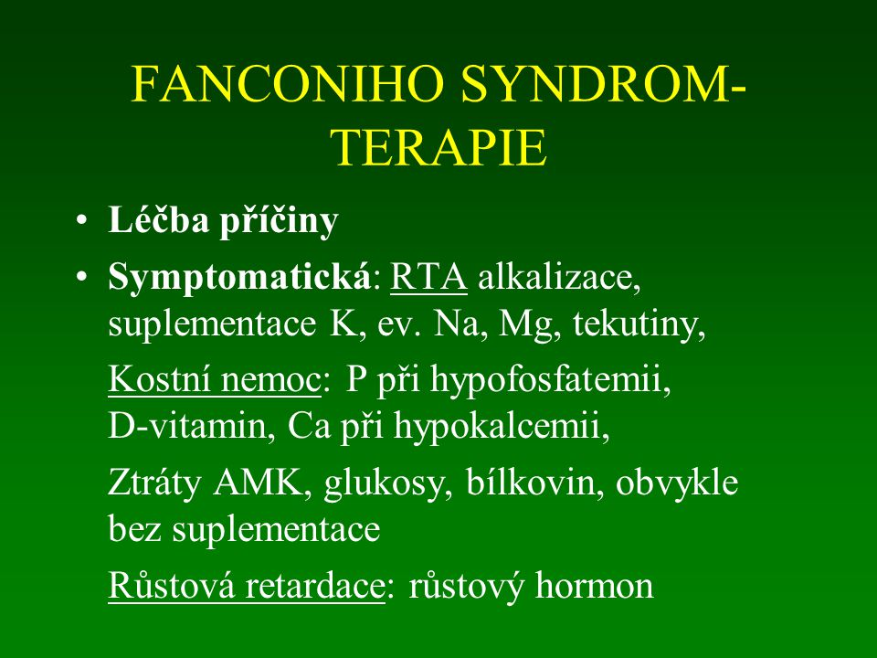 FANCONIHO SYNDROM- TERAPIE
