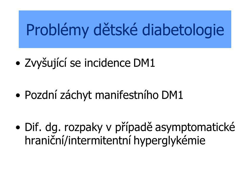 Problémy dětské diabetologie