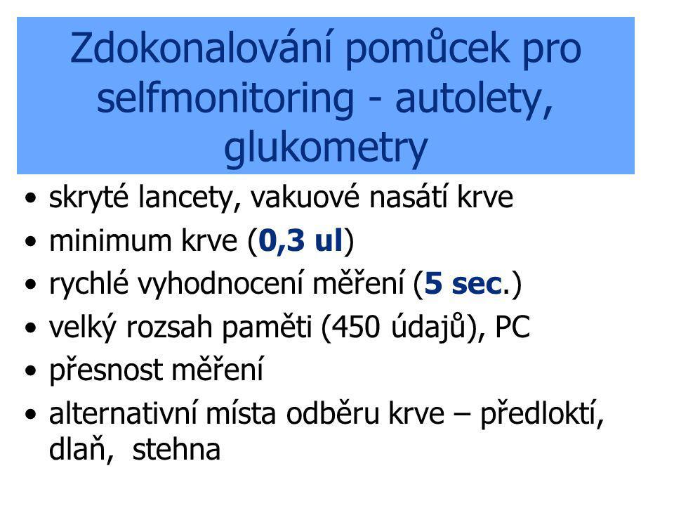 Zdokonalování pomůcek pro selfmonitoring - autolety, glukometry