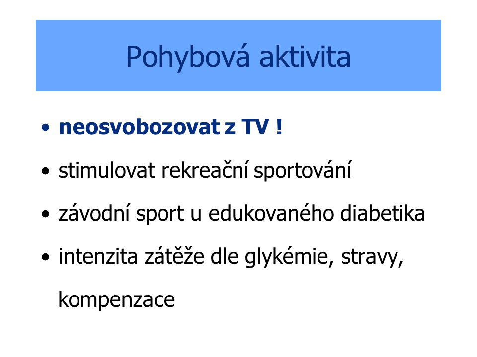 Pohybová aktivita neosvobozovat z TV ! stimulovat rekreační sportování