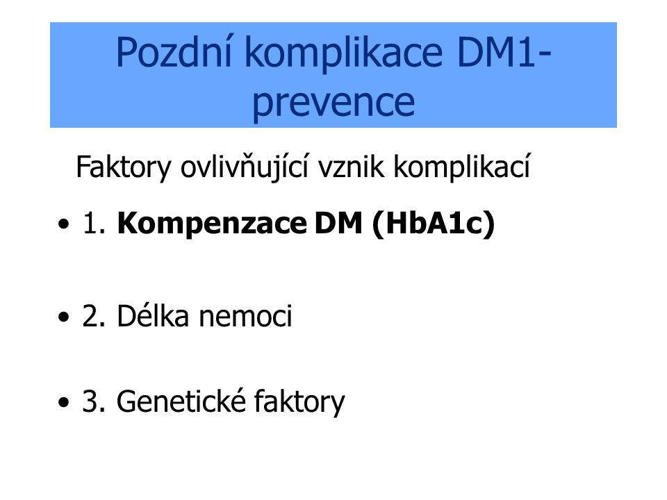 Pozdní komplikace DM1-prevence