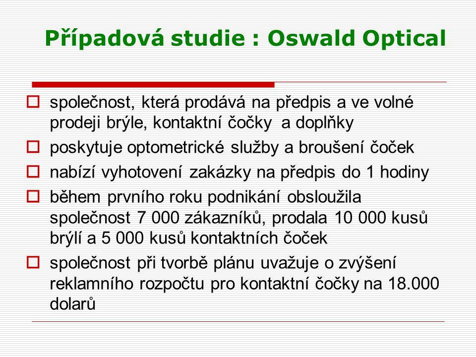 Případová studie : Oswald Optical