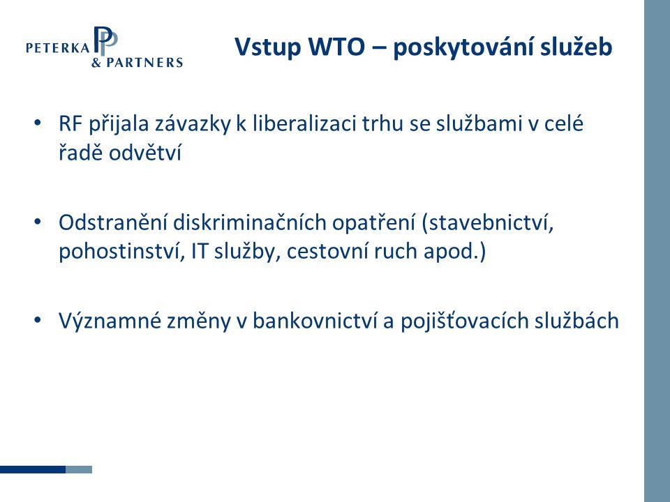 Vstup WTO – poskytování služeb
