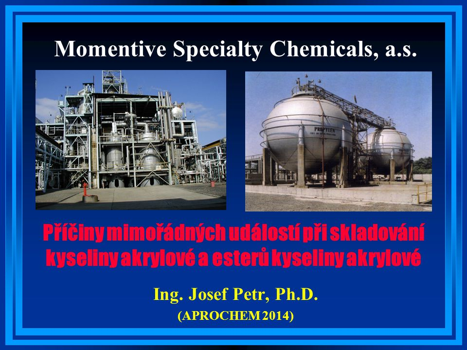 Momentive Specialty Chemicals, a.s.