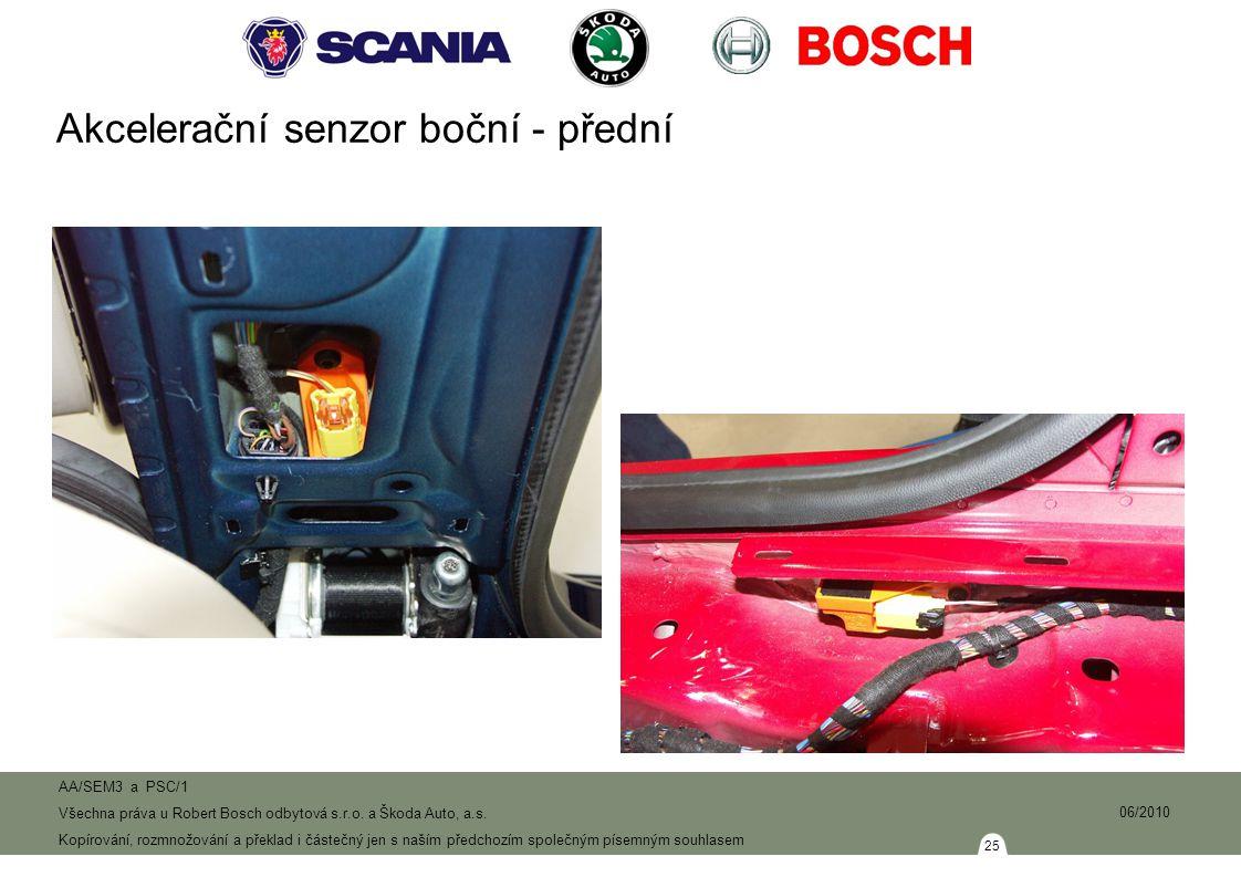 Akcelerační senzor boční - přední