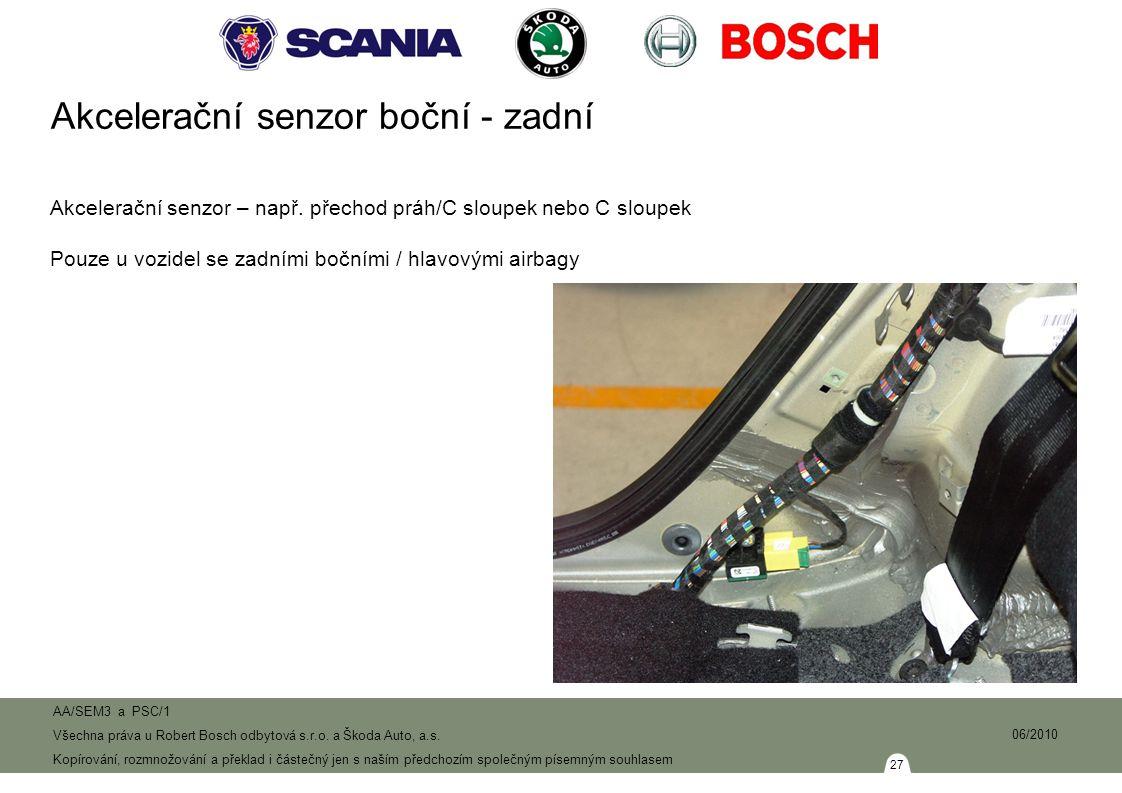 Akcelerační senzor boční - zadní