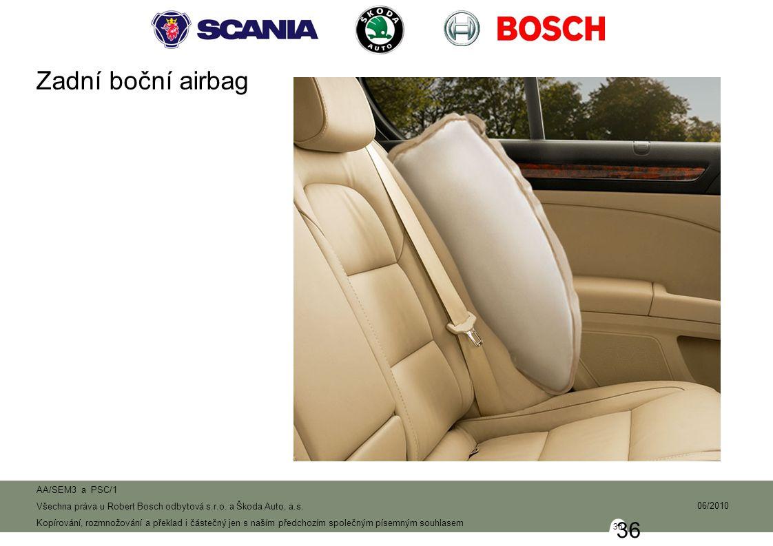 Zadní boční airbag