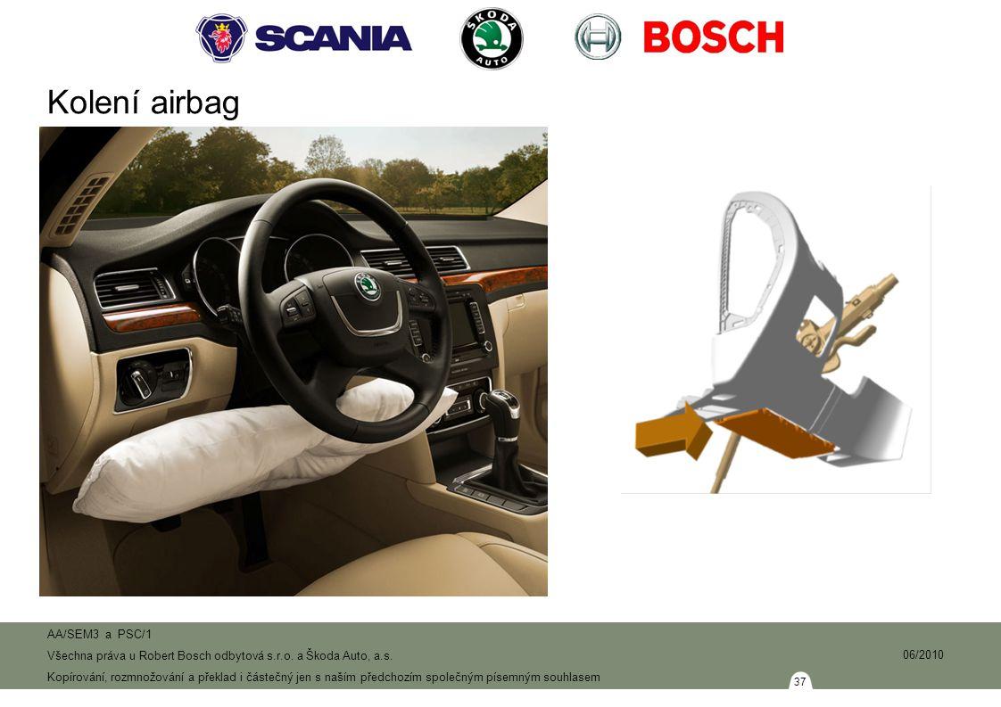 Kolení airbag