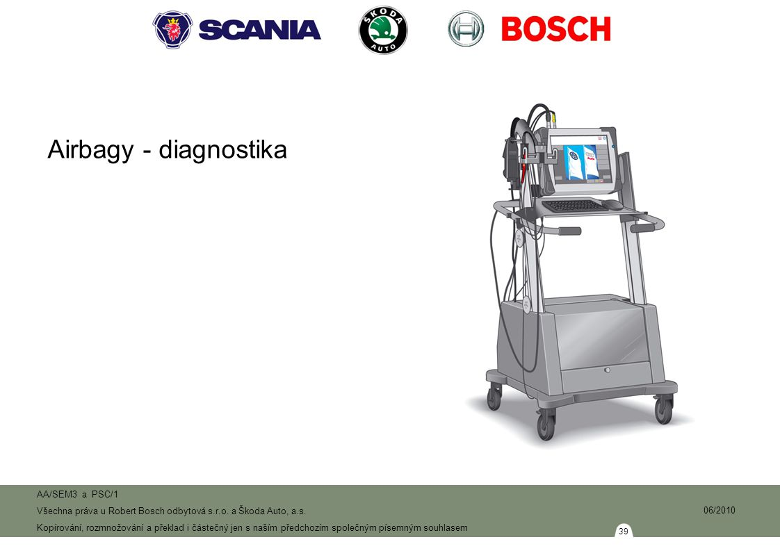 Airbagy - diagnostika