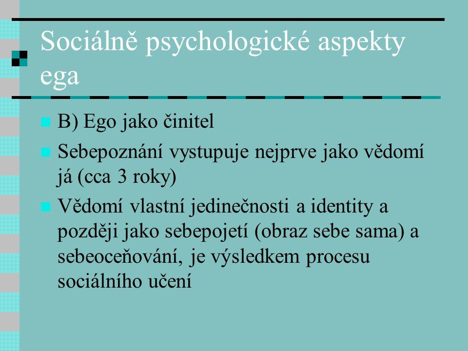 Sociálně psychologické aspekty ega