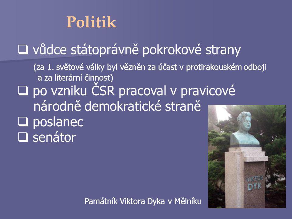 Politik vůdce státoprávně pokrokové strany