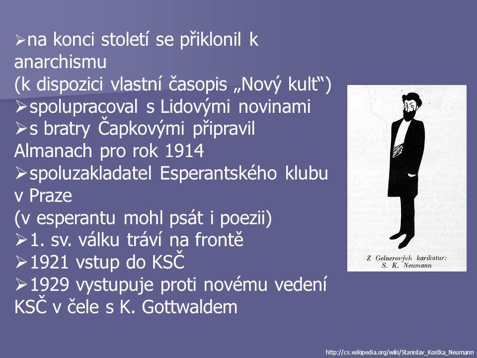 """(k dispozici vlastní časopis """"Nový kult )"""