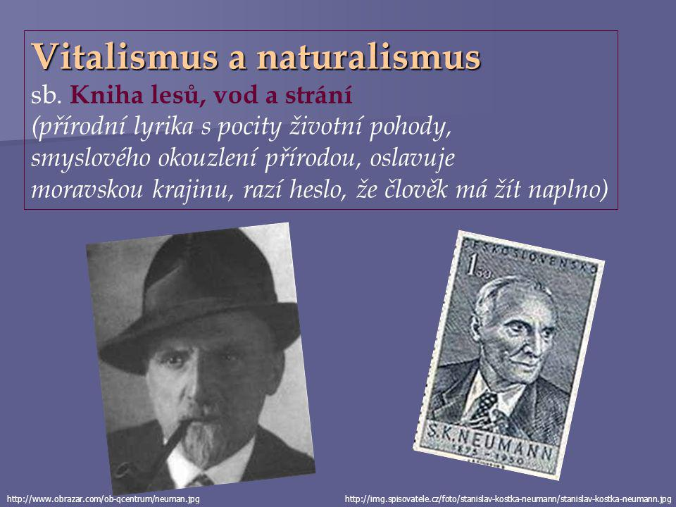 Vitalismus a naturalismus