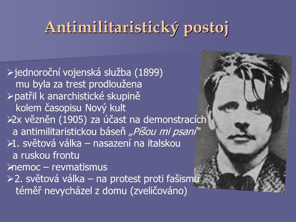 Antimilitaristický postoj