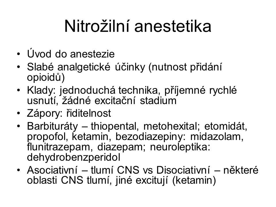 Nitrožilní anestetika