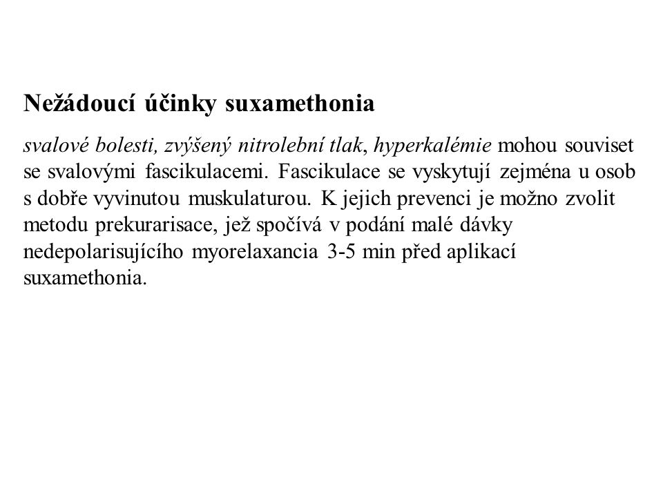 Nežádoucí účinky suxamethonia