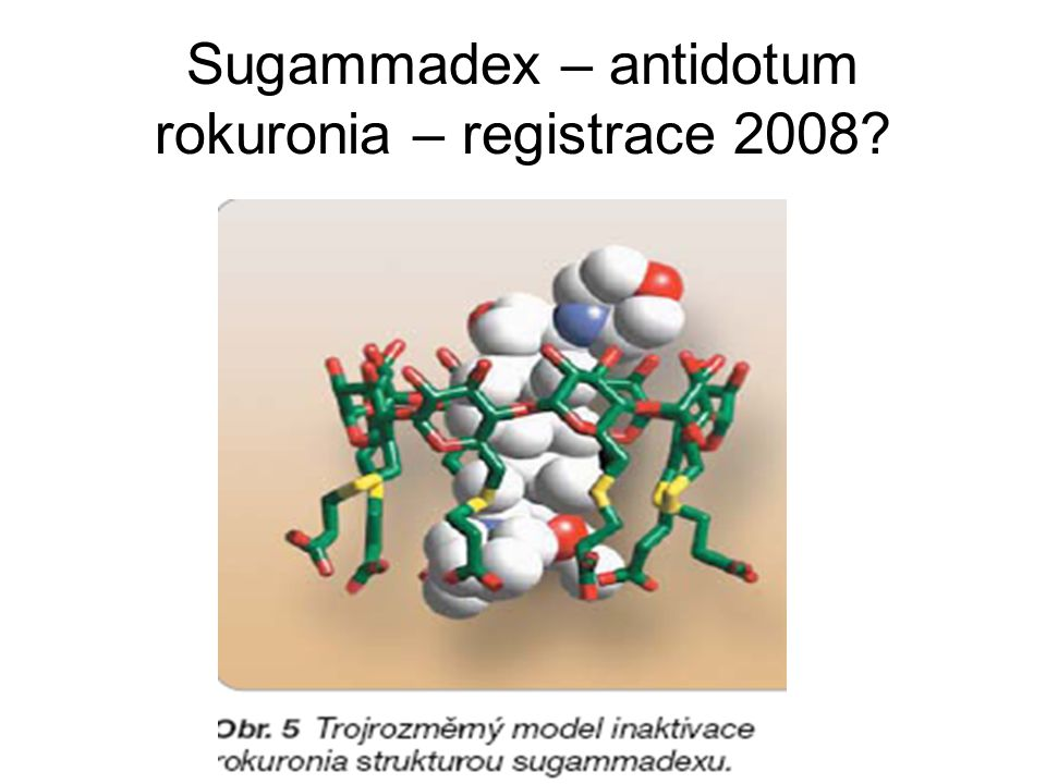 Sugammadex – antidotum rokuronia – registrace 2008