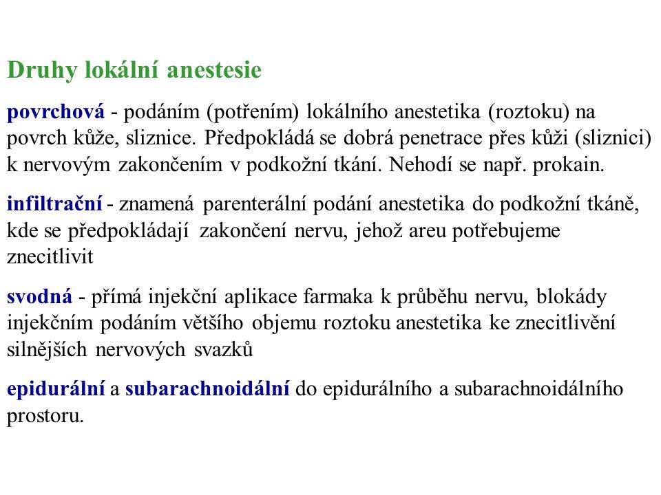 Druhy lokální anestesie