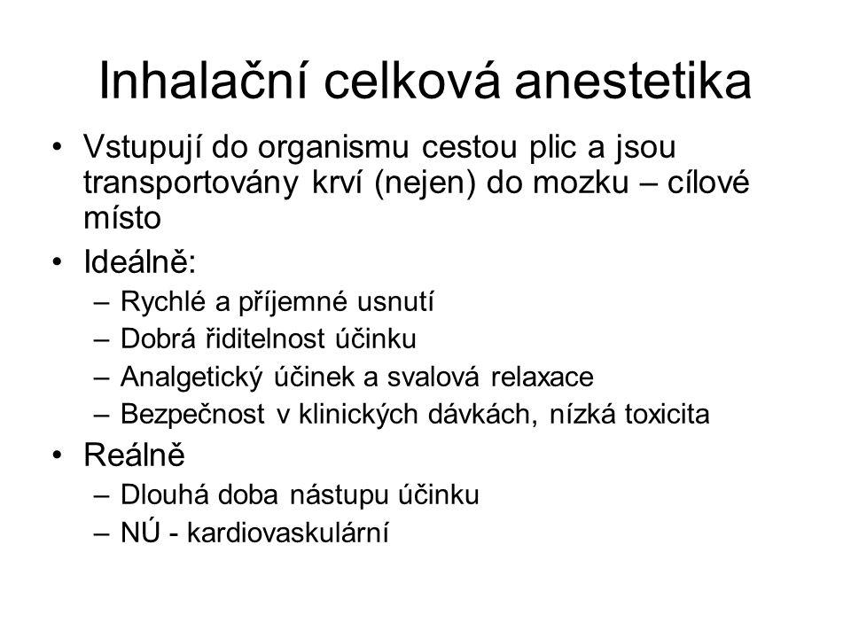 Inhalační celková anestetika