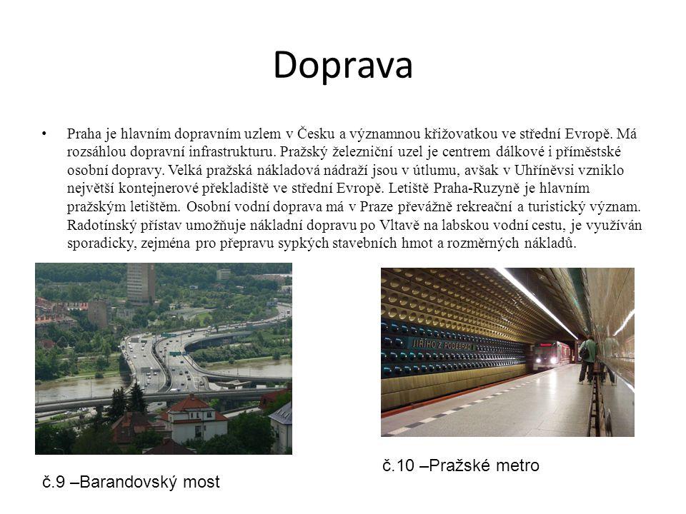 Doprava č.10 –Pražské metro č.9 –Barandovský most