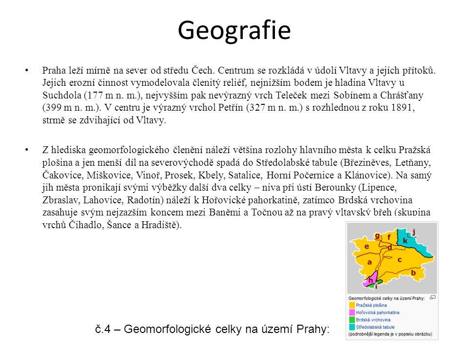 Geografie č.4 – Geomorfologické celky na území Prahy: