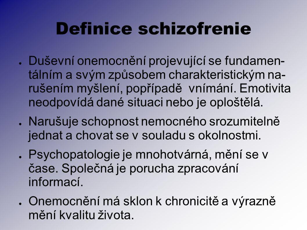 Definice schizofrenie