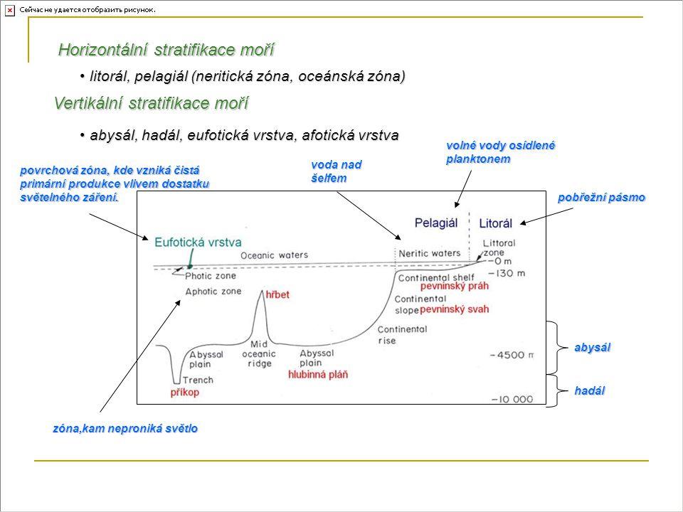Horizontální stratifikace moří