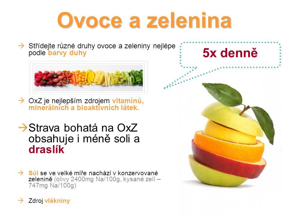Ovoce a zelenina 5x denně