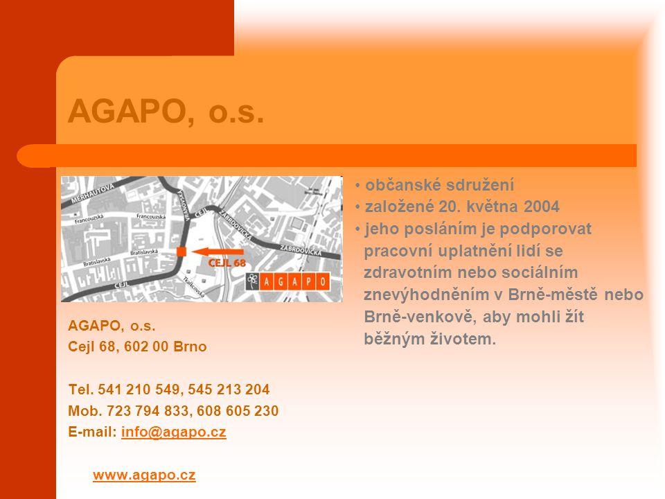 AGAPO, o.s. občanské sdružení založené 20. května 2004