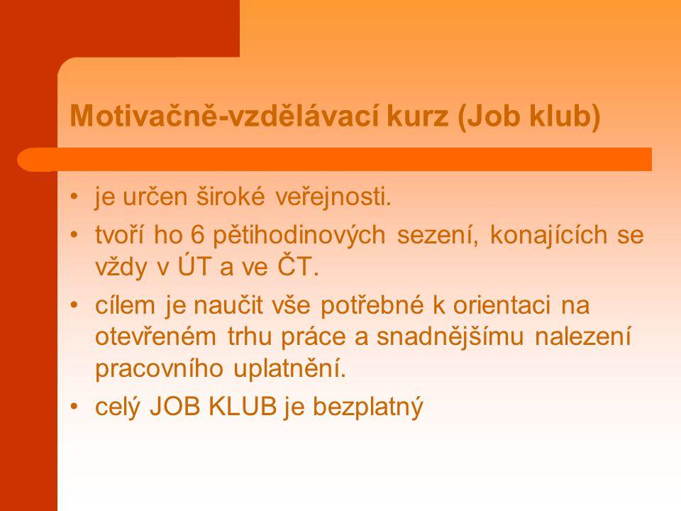 Motivačně-vzdělávací kurz (Job klub)
