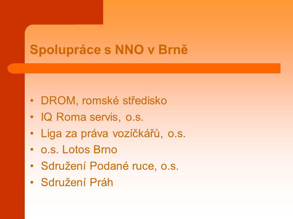 Spolupráce s NNO v Brně DROM, romské středisko IQ Roma servis, o.s.