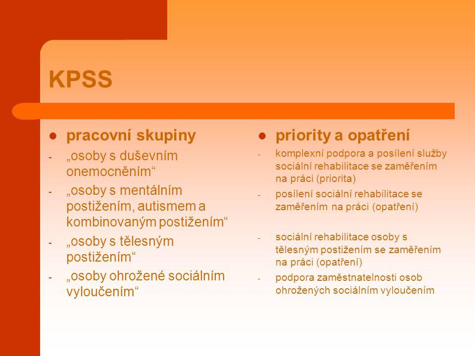 KPSS pracovní skupiny priority a opatření